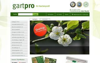Gartpro Webseiten Screenshot