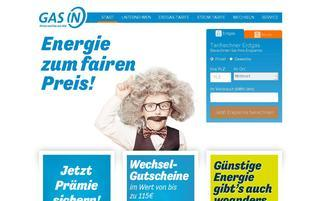 Gas IN Webseiten Screenshot