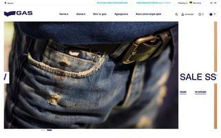 Gas Jeans Webseiten Screenshot