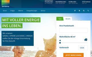 gasag.de Webseiten Screenshot
