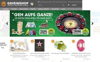 GeheimShop Webseiten Screenshot