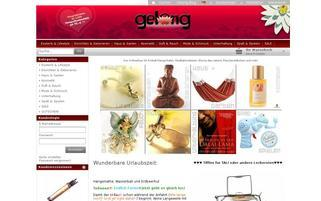 Gelong Webseiten Screenshot
