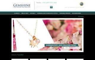 gemshine.com Webseiten Screenshot