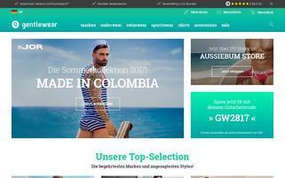 Gentlewear Webseiten Screenshot