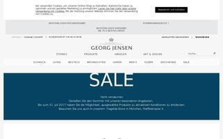Georg Jensen Webseiten Screenshot