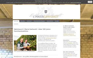 gerhardtwein.de Webseiten Screenshot