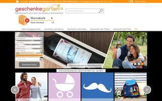 Geschenkegarten Webseiten Screenshot