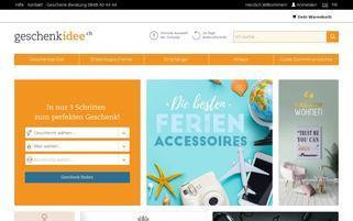 Geschenkidee.ch Webseiten Screenshot