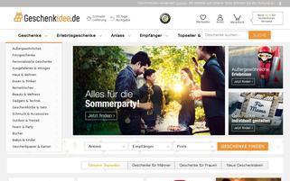 Geschenkidee Webseiten Screenshot