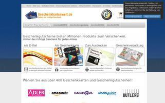 Geschenkkartenwelt Webseiten Screenshot