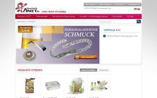 Geschenkplanet Webseiten Screenshot