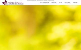geschenkraetsel.de Webseiten Screenshot