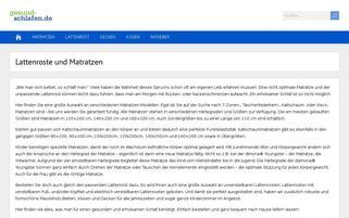 gesund-schlafen Webseiten Screenshot