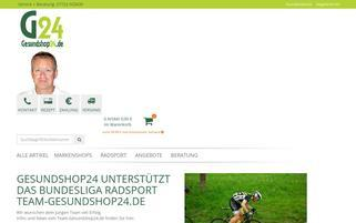 Gesundshop24 Webseiten Screenshot