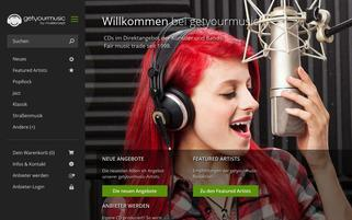 Get your music Webseiten Screenshot