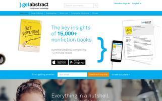 getAbstract Webseiten Screenshot