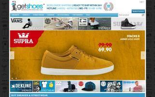 getShoes Webseiten Screenshot