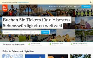 GetYourGuide Webseiten Screenshot