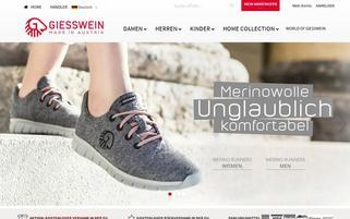 Giesswein Webseiten Screenshot
