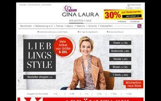 Gina Laura Webseiten Screenshot