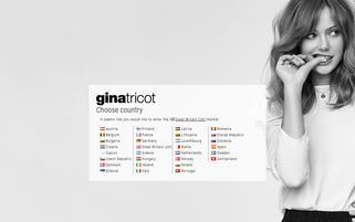 Gina Tricot Webseiten Screenshot