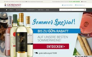 giordano Webseiten Screenshot