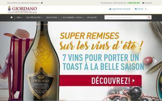 giordanovins.fr Webseiten Screenshot