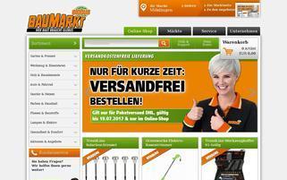 Globus Baumarkt Webseiten Screenshot