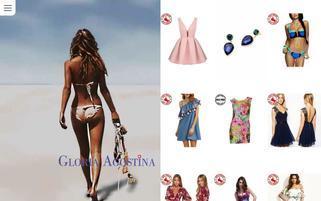 Gloria Agostina Webseiten Screenshot