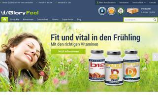 gloryfeel.de Webseiten Screenshot