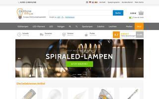 Glühbirne Billig Webseiten Screenshot
