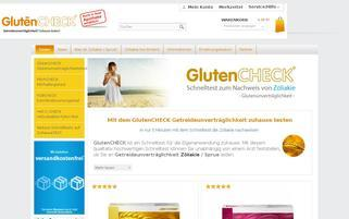 glutencheck.com Webseiten Screenshot