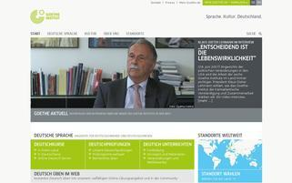 Goethe-Institut Webseiten Screenshot