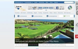 Golf.de Webseiten Screenshot
