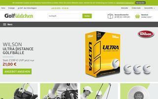 Golflädchen Webseiten Screenshot