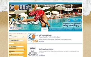 Goller Holidays Webseiten Screenshot