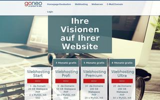goneo Webseiten Screenshot