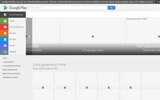 Google Play Webseiten Screenshot