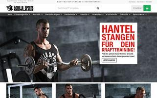 Gorilla Sports Webseiten Screenshot