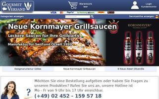 Gourmet Versand Webseiten Screenshot
