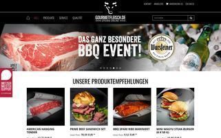 Gourmetfleisch Webseiten Screenshot