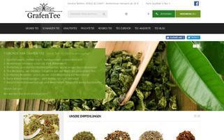 Grafen Tee Webseiten Screenshot