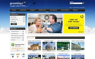 greatdays.de Webseiten Screenshot