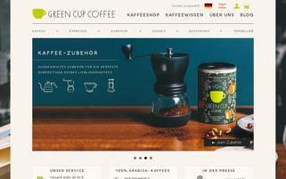 Green Cup Coffee Webseiten Screenshot