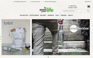 Green your life Webseiten Screenshot