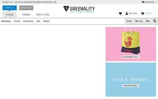 Greenality Webseiten Screenshot