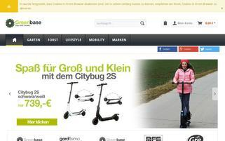 greenbase-shop.de Webseiten Screenshot