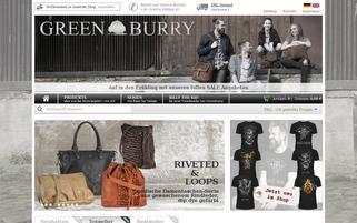 Greenburry Webseiten Screenshot