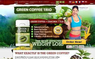 GreenCoffeeTrio Webseiten Screenshot