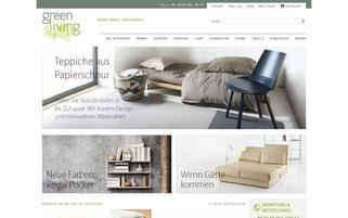 Greenliving-Shop Webseiten Screenshot